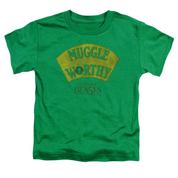 Fantastic Beasts Muggle Worthy Short Sleeve Toddler Tee Kelly Green T-Shirt