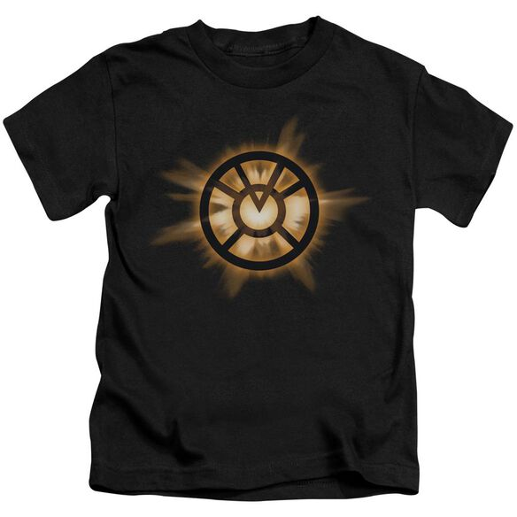 Green Lantern Orange Glow Short Sleeve Juvenile Black T-Shirt