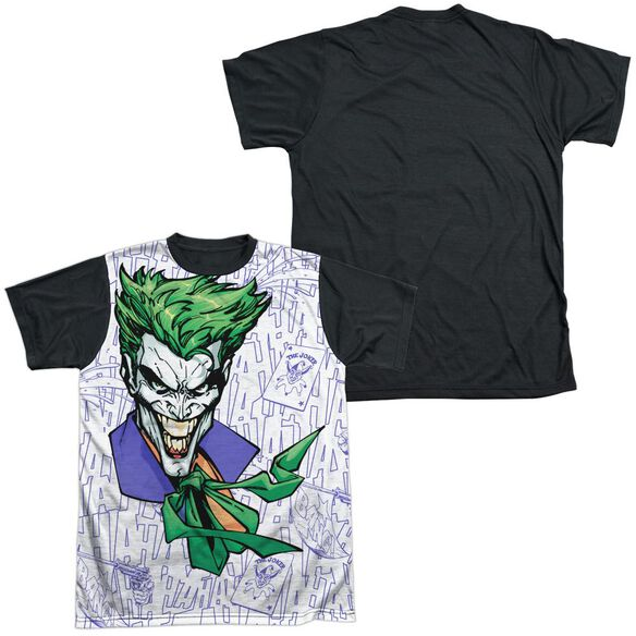 Batman Laugh Clown Laugh Short Sleeve Adult Front Black Back T-Shirt