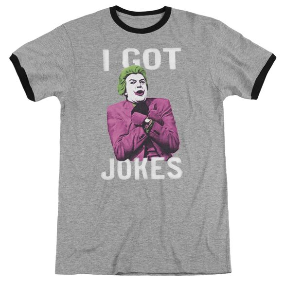 Batman Classic Tv Got Jokes Adult Ringer Heather Black