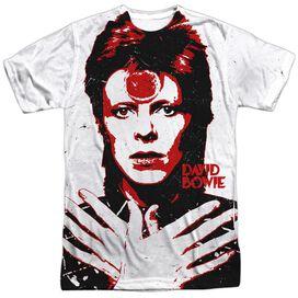 David Bowie Piercing Gaze Short Sleeve Adult Poly Crew T-Shirt