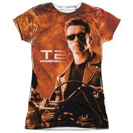 Terminator Ii Blaze Short Sleeve Junior Poly Crew T-Shirt