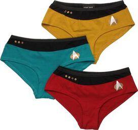 Star Trek Next Generation Uniform 3 Pack Panty Set