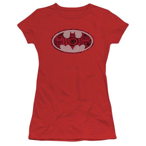 Batman Rosey Signal Short Sleeve Junior Sheer T-Shirt