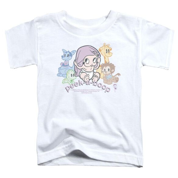 Betty Boop Peek A Boo Short Sleeve Toddler Tee White Md T-Shirt