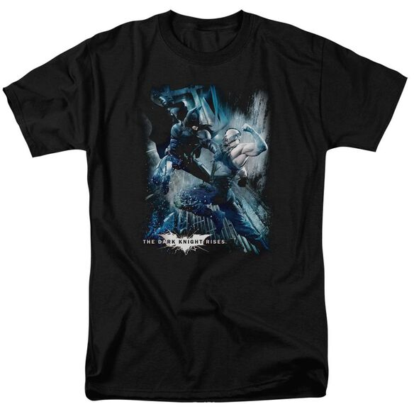 Dark Knight Rises Showdown Short Sleeve Adult Black T-Shirt