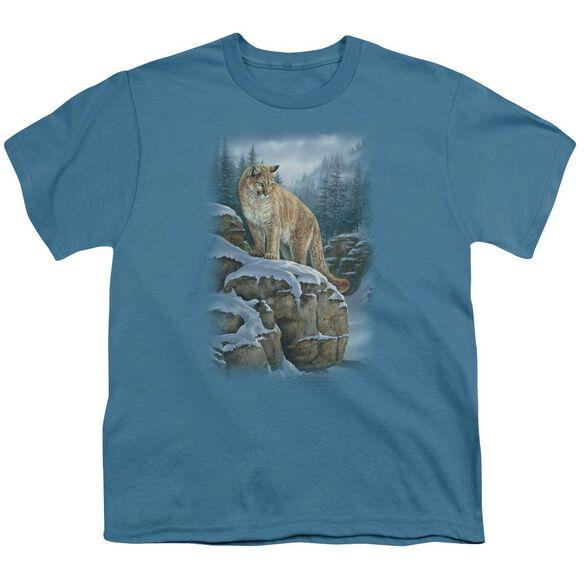 Wildlife Misty Canyon Cougar Short Sleeve Youth T-Shirt