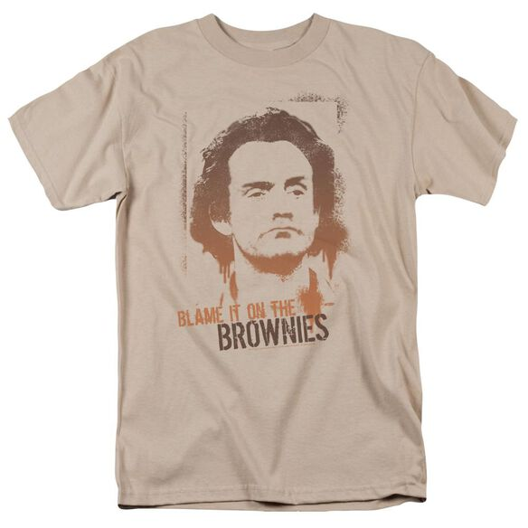 Taxi Blame It On The Brownies Short Sleeve Adult Sand T-Shirt