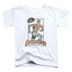 Dc Am Action Figure Short Sleeve Toddler Tee White T-Shirt