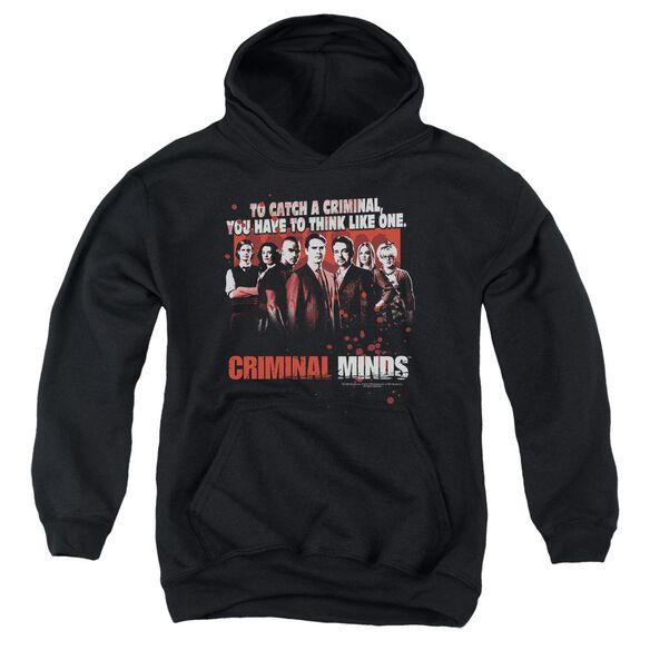 Criminal Minds Think Like One Youth Pull Over Hoodie