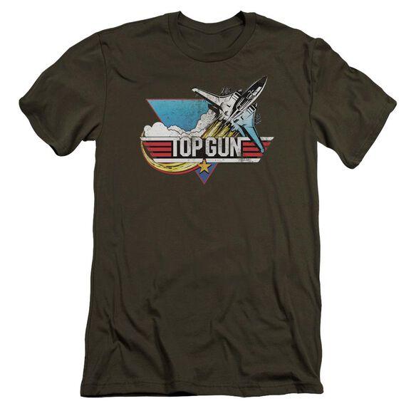Top Gun Distressed Logo Premuim Canvas Adult Slim Fit Military