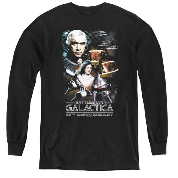 Bsg 35th Anniversary Collage - Youth Long Sleeve Tee - Black