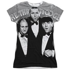 Three Stooges Classy Fellas Short Sleeve Junior Poly Crew T-Shirt