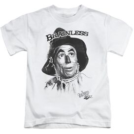 Wizard Of Oz Brainless Short Sleeve Juvenile White T-Shirt