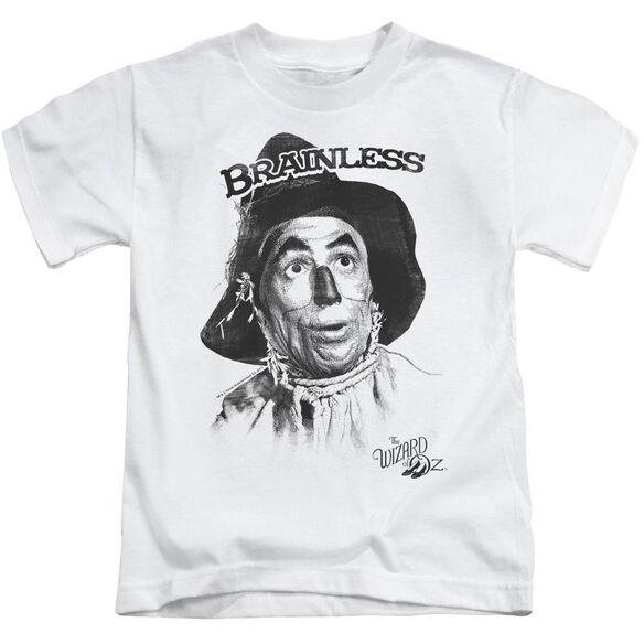 Wizard Of Oz Brainless Short Sleeve Juvenile White T-Shirt