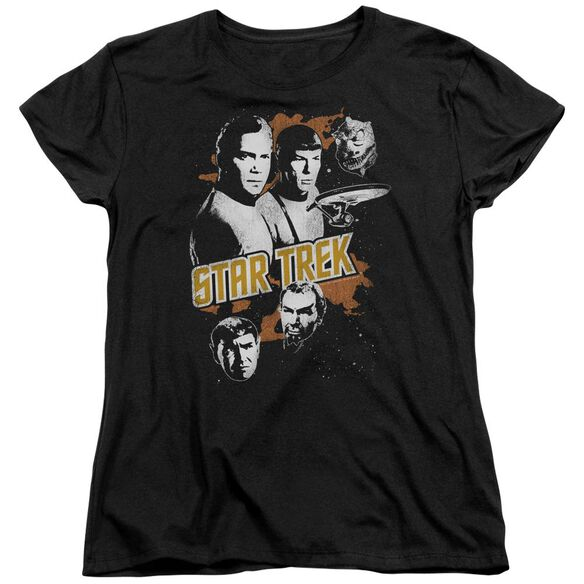 Star Trek Graphic Good Vs Evil Short Sleeve Women's Tee T-Shirt