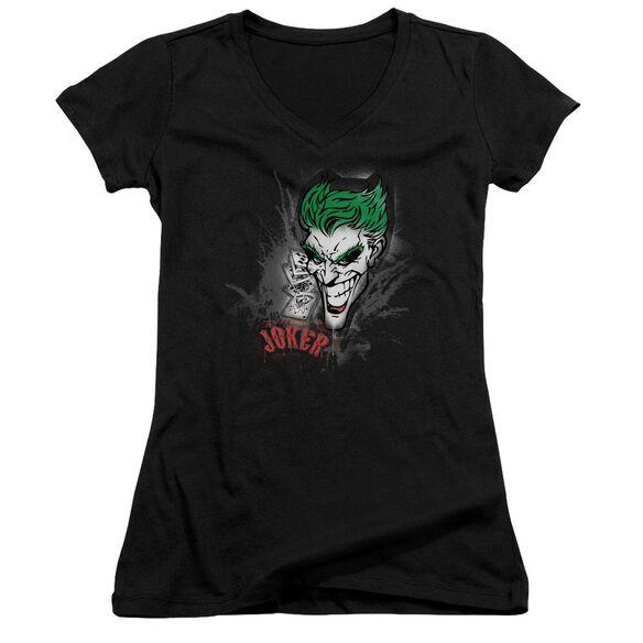 Batman Joker Sprays The City Junior V Neck T-Shirt