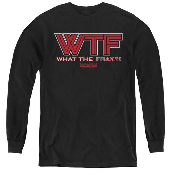 Bsg Wtf - Youth Long Sleeve Tee - Black