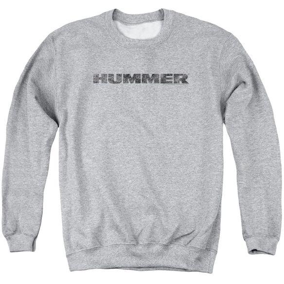 Hummer Distressed Hummer Logo Adult Crewneck Sweatshirt Athletic