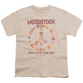 Woodstock Floral Peace Short Sleeve Youth T-Shirt