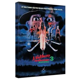 Nightmare On Elm Street Elm Street 3 Poster Canvas Wall Art With Back Board