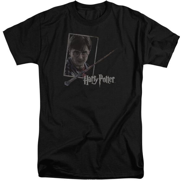 Harry Potter Harrys Wand Portrait Short Sleeve Adult Tall T-Shirt