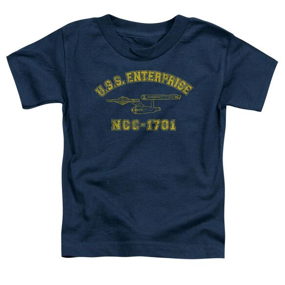 Star Trek Enterprise Athletic Short Sleeve Toddler Tee Navy T-Shirt