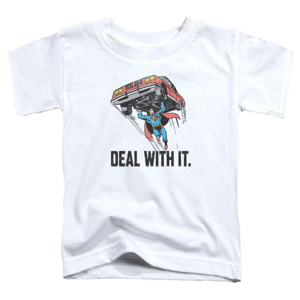 Dco Deal With It Short Sleeve Toddler Tee White T-Shirt