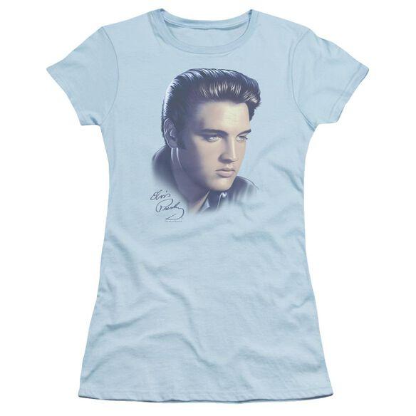 Elvis Big Portrait Short Sleeve Junior Sheer Light T-Shirt
