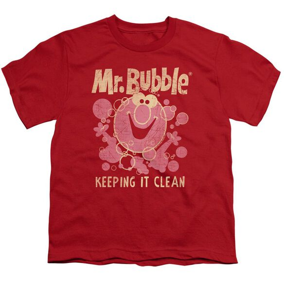 Mr Bubble Keeping It Clean Short Sleeve Youth T-Shirt