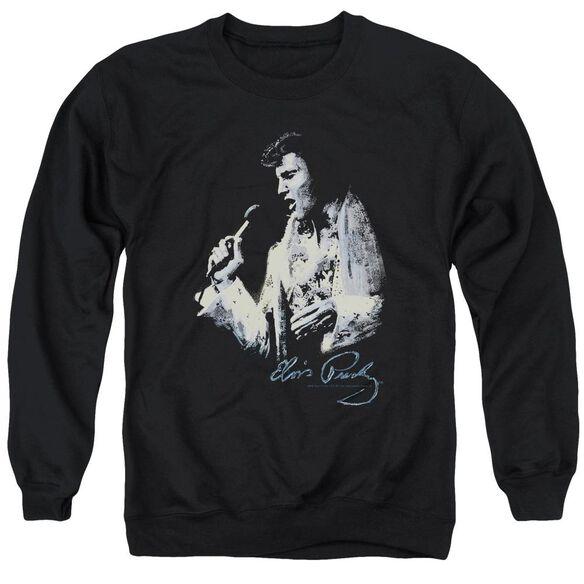 Elvis Presley Painted King - Adult Crewneck Sweatshirt - Black