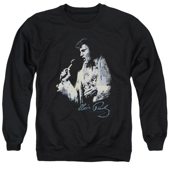 Elvis Painted King Adult Crewneck Sweatshirt