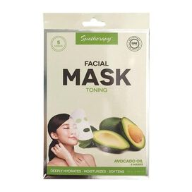 Toning Facial Mask with Avocado Oil [5 pack]