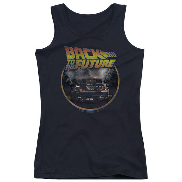 Back To The Future Back Juniors Tank Top