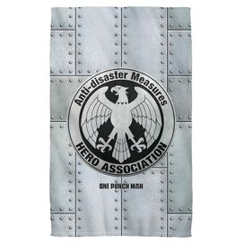 One Punch Man Hero Association Towel White