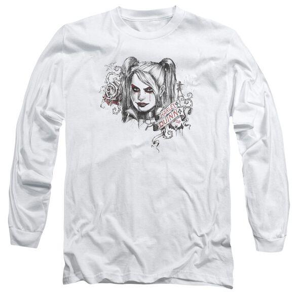 Batman Arkham Knight Sketchy Girl Long Sleeve Adult T-Shirt