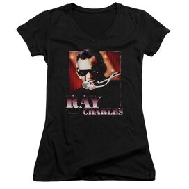 Ray Charles Sing It Junior V Neck T-Shirt