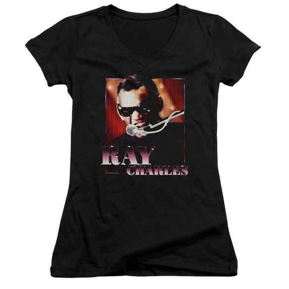 Ray Charles Sing It Junior V Neck T-Shirt