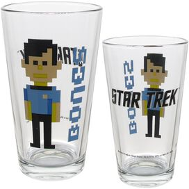 Star Trek Trexels 4-Pack Pint Glass Set