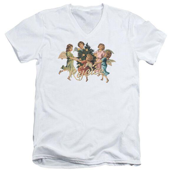 Rejoice Short Sleeve Adult V Neck T-Shirt