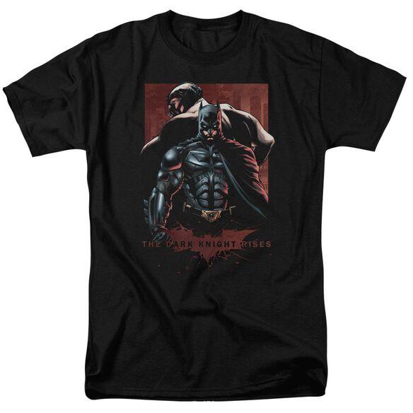 Dark Knight Rises Batman & Bane Short Sleeve Adult Black T-Shirt