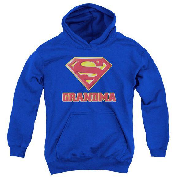 Superman Super Grandma Youth Pull Over Hoodie