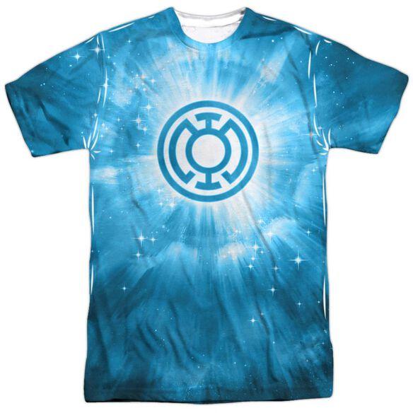 Green Lantern Blue Energy Short Sleeve Adult 100% Poly Crew T-Shirt