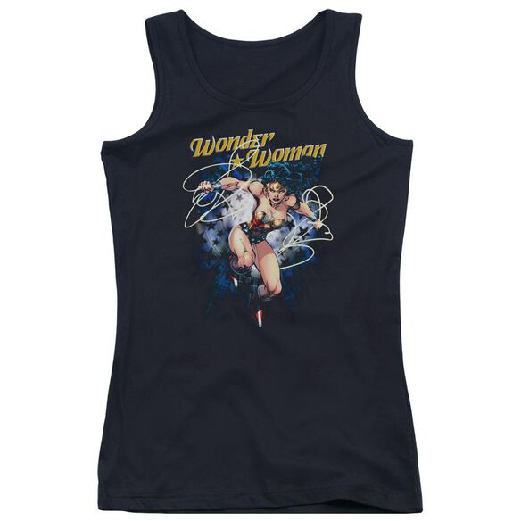 Jla Starburst Juniors Tank Top