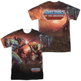 Masters Of The Universe Battle (Front Back Print) Short Sleeve Adult Poly Crew T-Shirt
