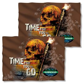 Survivor Time To Go (Front Back Print) Pillow Case White