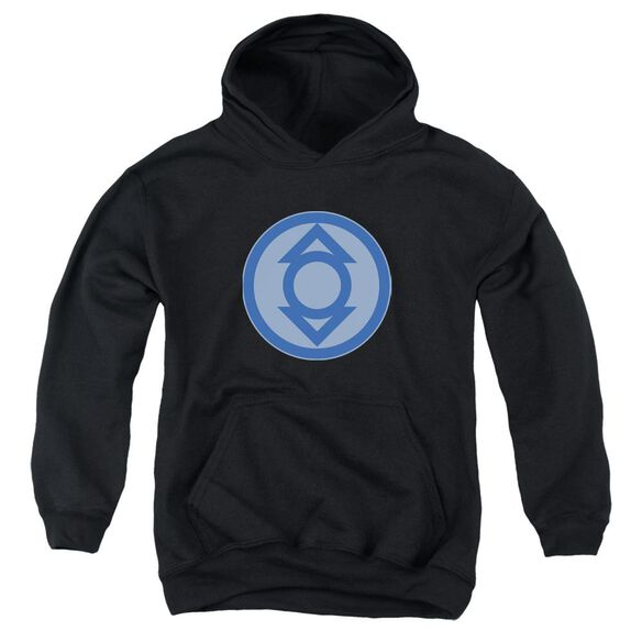 Green Lantern Indigo Symbol Youth Pull Over Hoodie