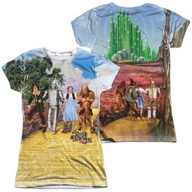 Woz On The Road (Front Back Print) Short Sleeve Junior Poly Crew T-Shirt