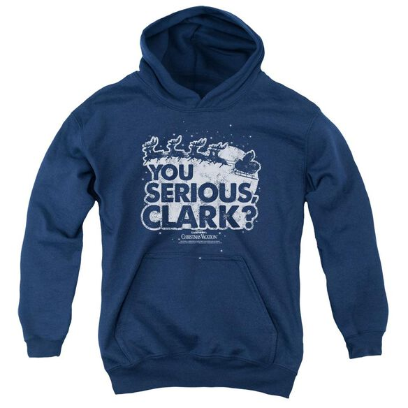 Christmas Vacation You Serious Clark Youth Pull Over Hoodie