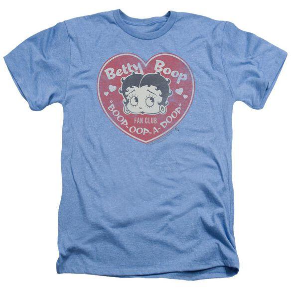 Betty Boop Fan Club Heart Adult Heather Light